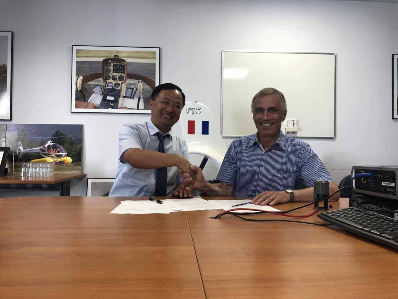 北京通航江西直升机公司与法国Guimbal直升机公司签署合作协议